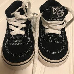 Vans Kids Half Cab Toddler Black